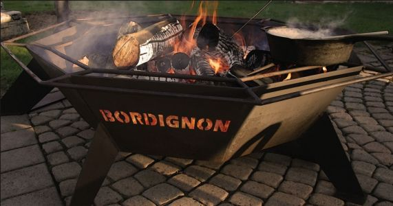 family name engraved fire pit