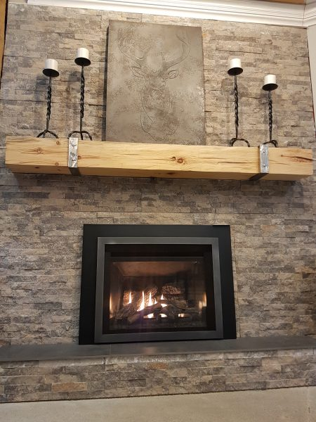 Custom Rustic Mantles Lifestyle Image Hearth Manor Fireplaces