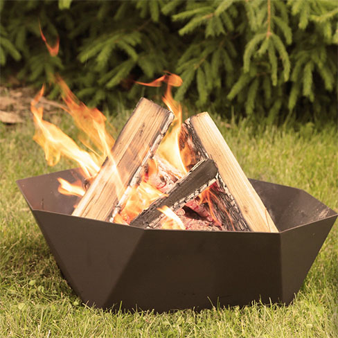 cupola ring backyard fire pit on grass