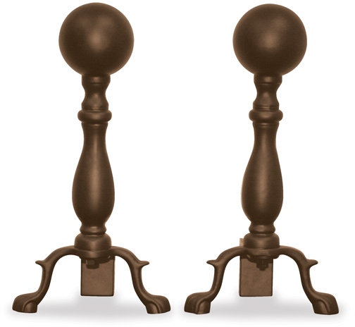 bronze andirons for fireplaces