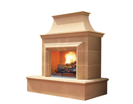 Reduced Cordova outdoor fireplace