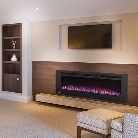 Napoleon ELectric Fireplace Allure Phantom 60 inch Hearth Manor
