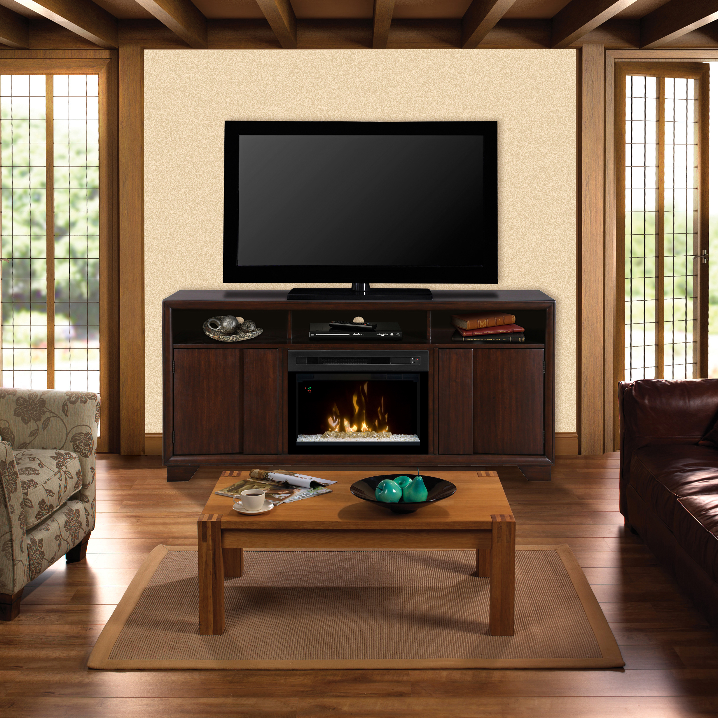 Arkell Electric Fireplace Media Console by DIMPLEX