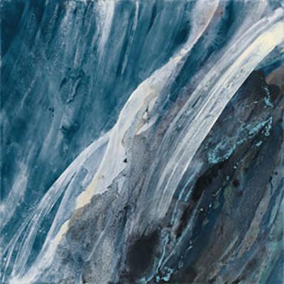 Contemporary Blue Abstract Canvas Wall Decor