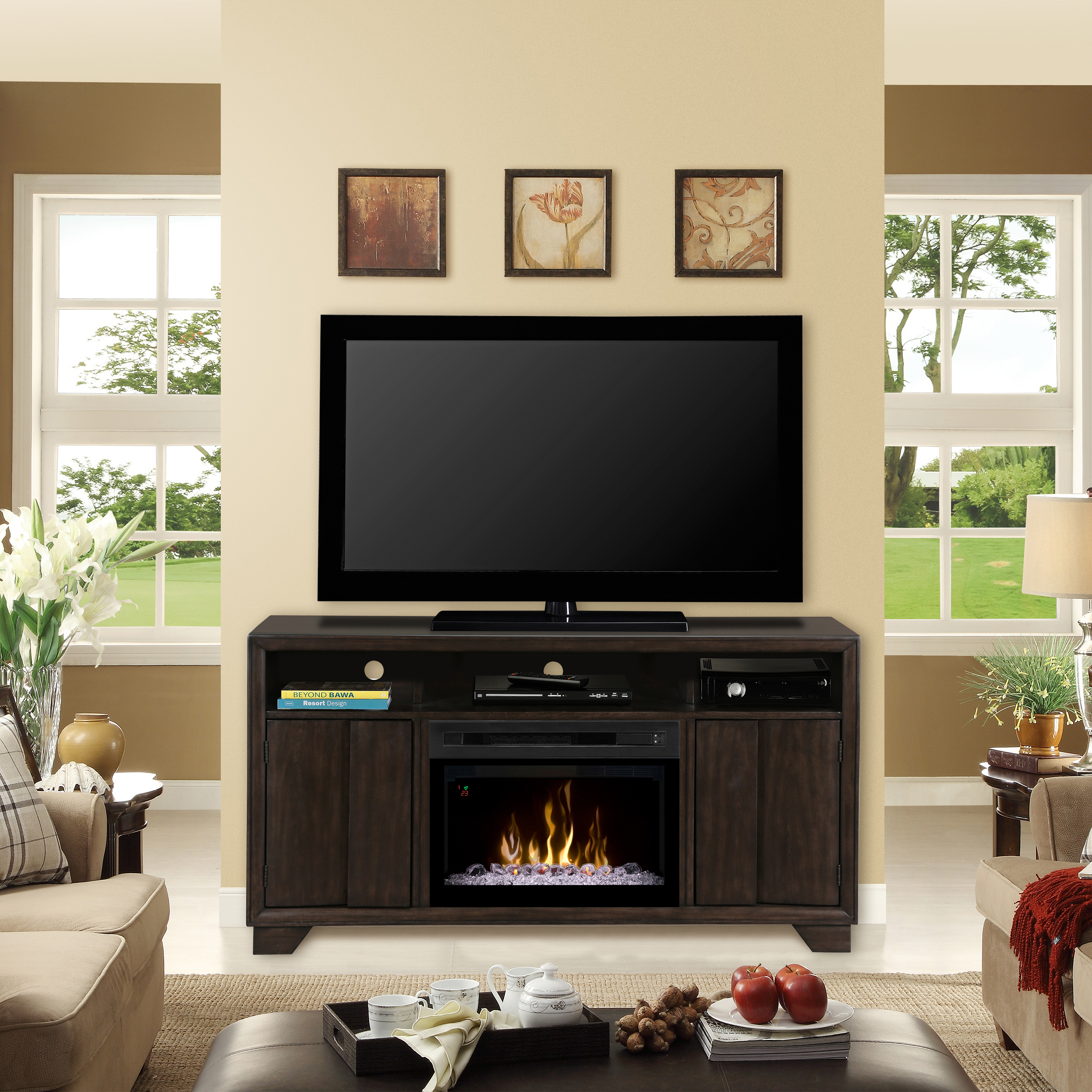 Bayne Electric Fireplace Media Console by Dimplex