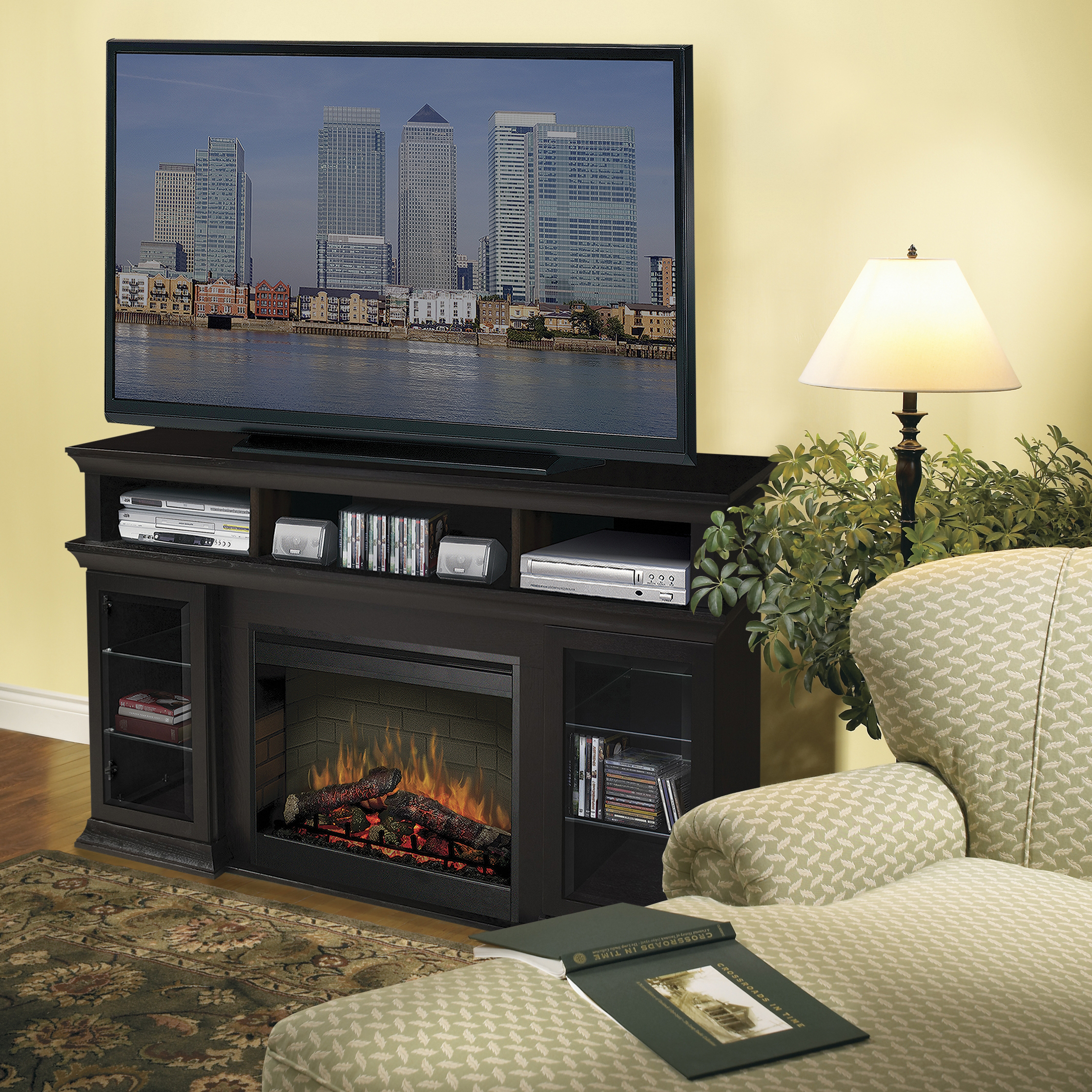 Bennet Electric Fireplace Media Console by DIMPLEX