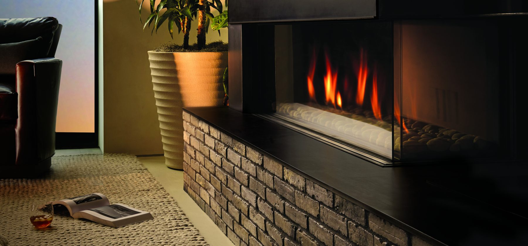 Modern gas Fireplace rediscover Fire