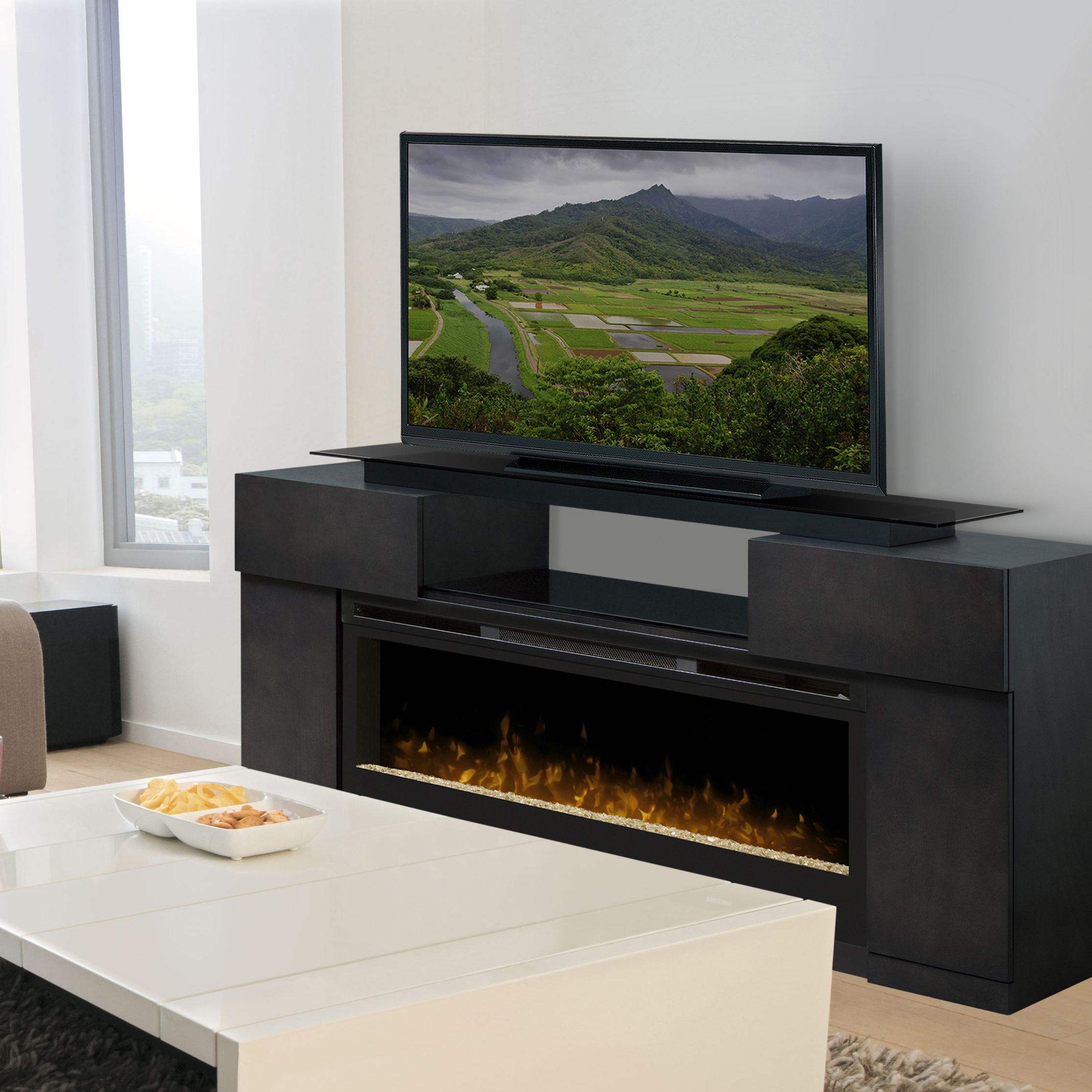 Concord Electric Fireplace Media Console by Dimplex