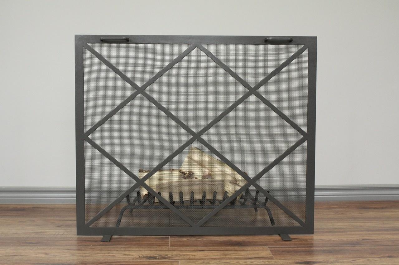 Criss Cross Fireplace SCreen