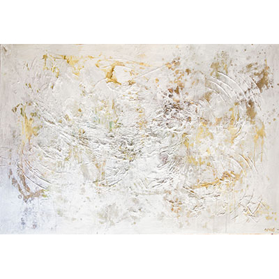 Contemporary Off White Abstract Canvas Wall Decor