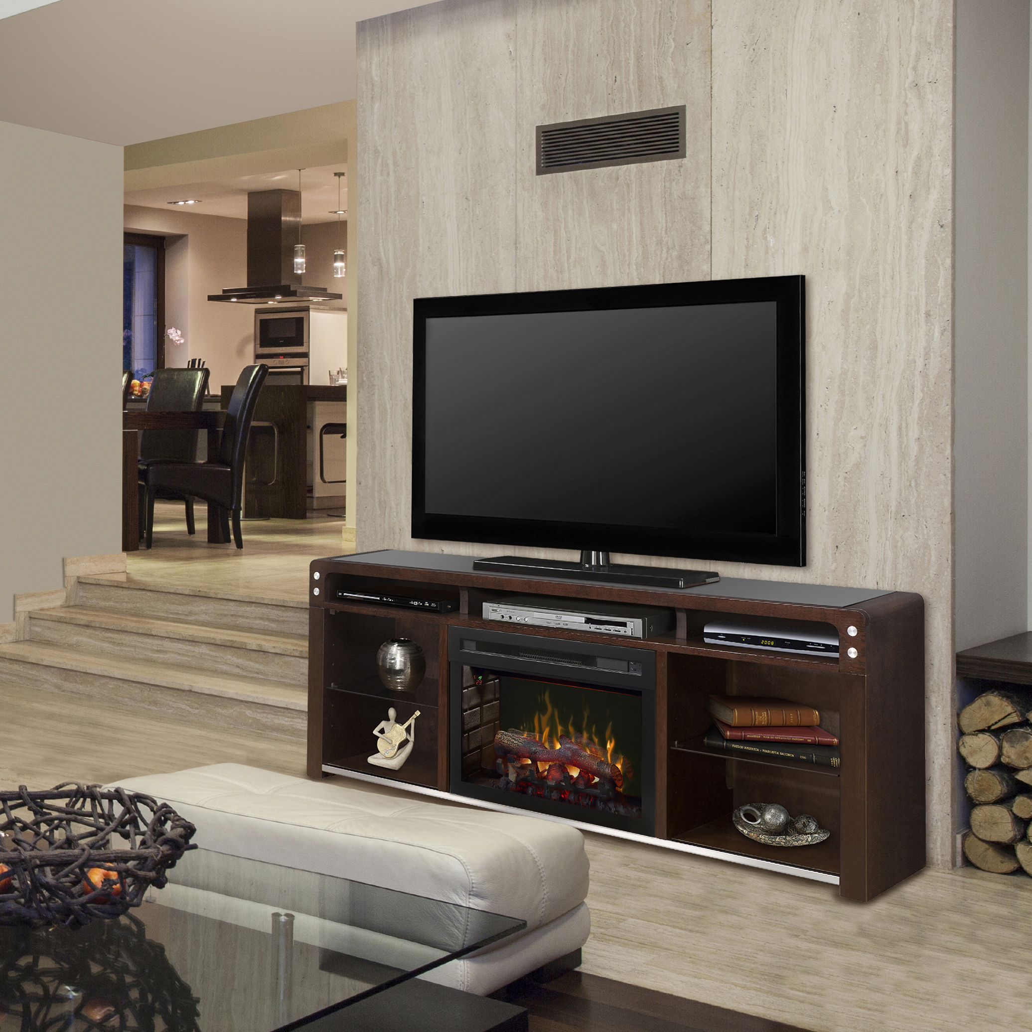 Galloway electric fireplace media console by DIMPLEX