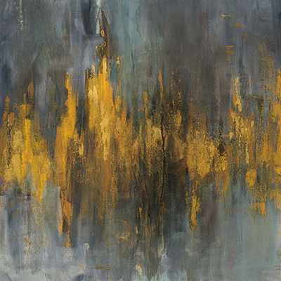 Contemporary Yellow and Grey Abstract Canvas Wall art, Hearth Manor Fireplaces