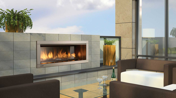 Outdoor Gas FIreplaces by HEARTH MANOR fireplace Napoleon