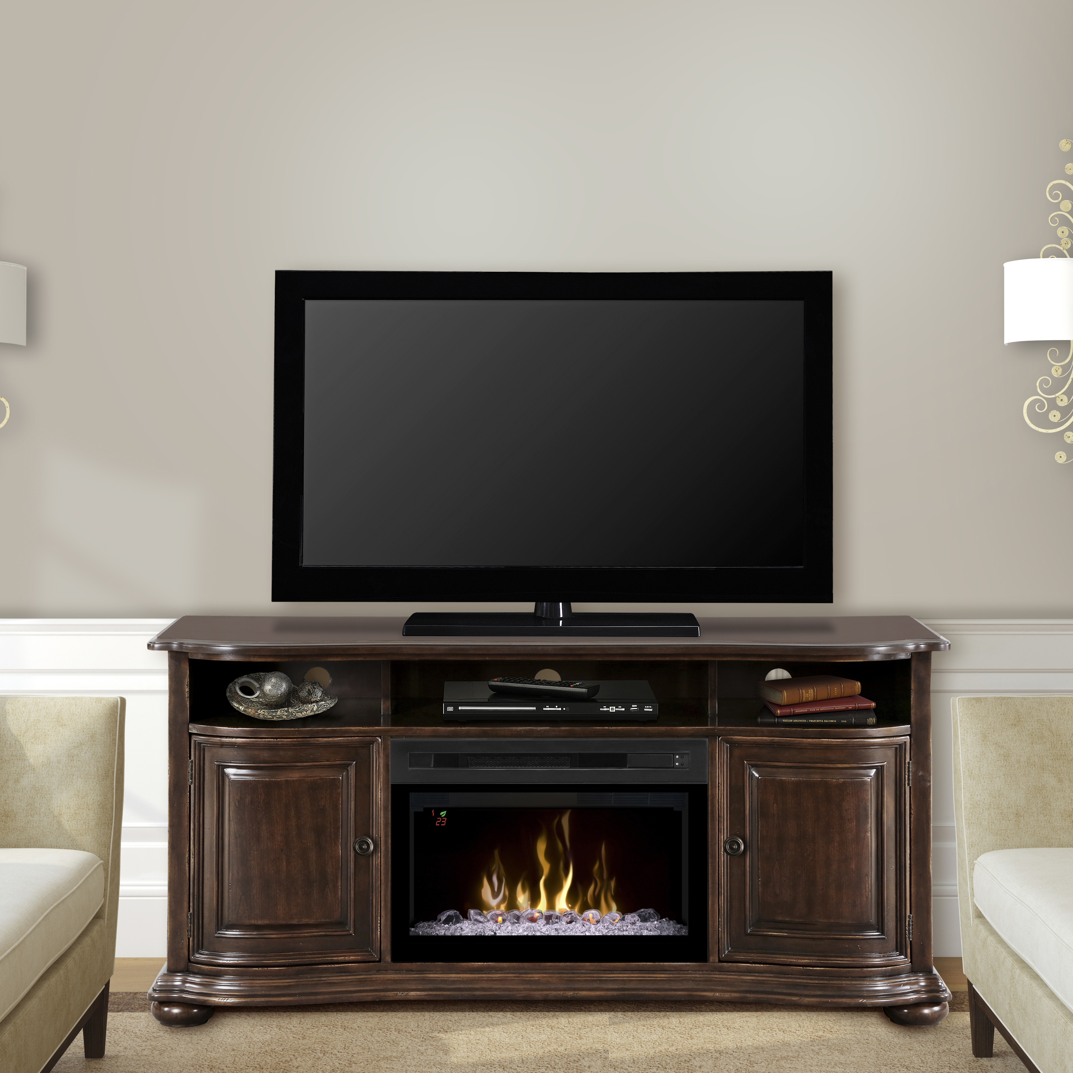 Henderson Electric Fireplace Media Console by DIMPLEX