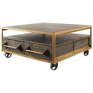Huson 3 coffee table on wheels