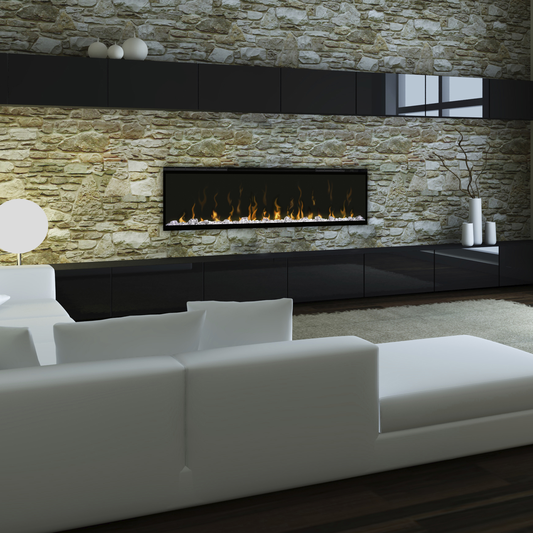Ignite 50 Dimplex Wall Mounted Fireplace in a Modern Home
