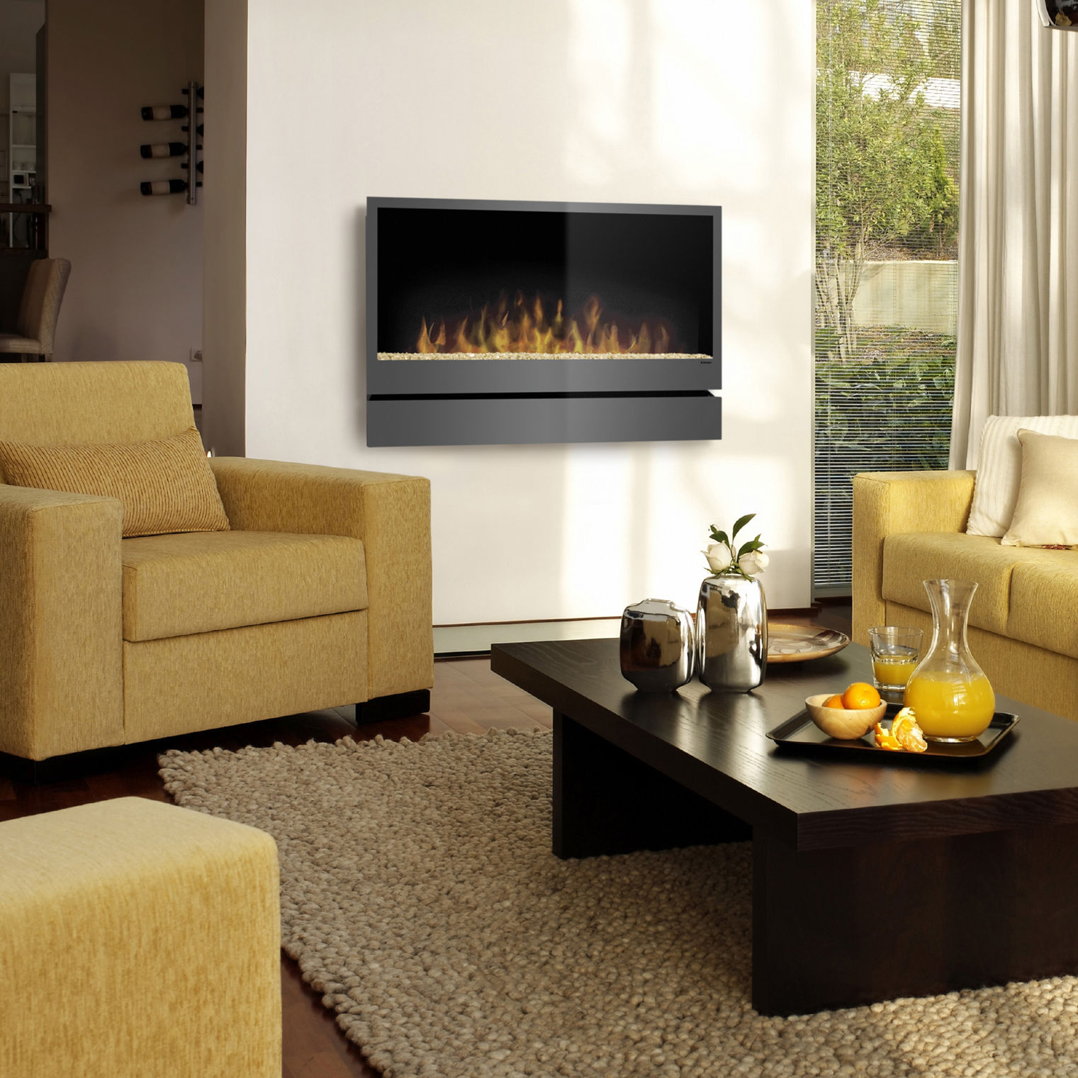 Inspiration Wall Mounted Fireplace by DImplex