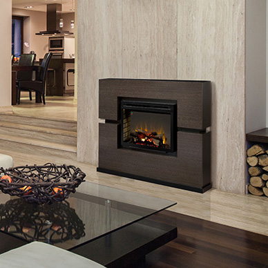 Linwood Modern Electric Fireplace Mantle by Dimplex in a Contemporary Home
