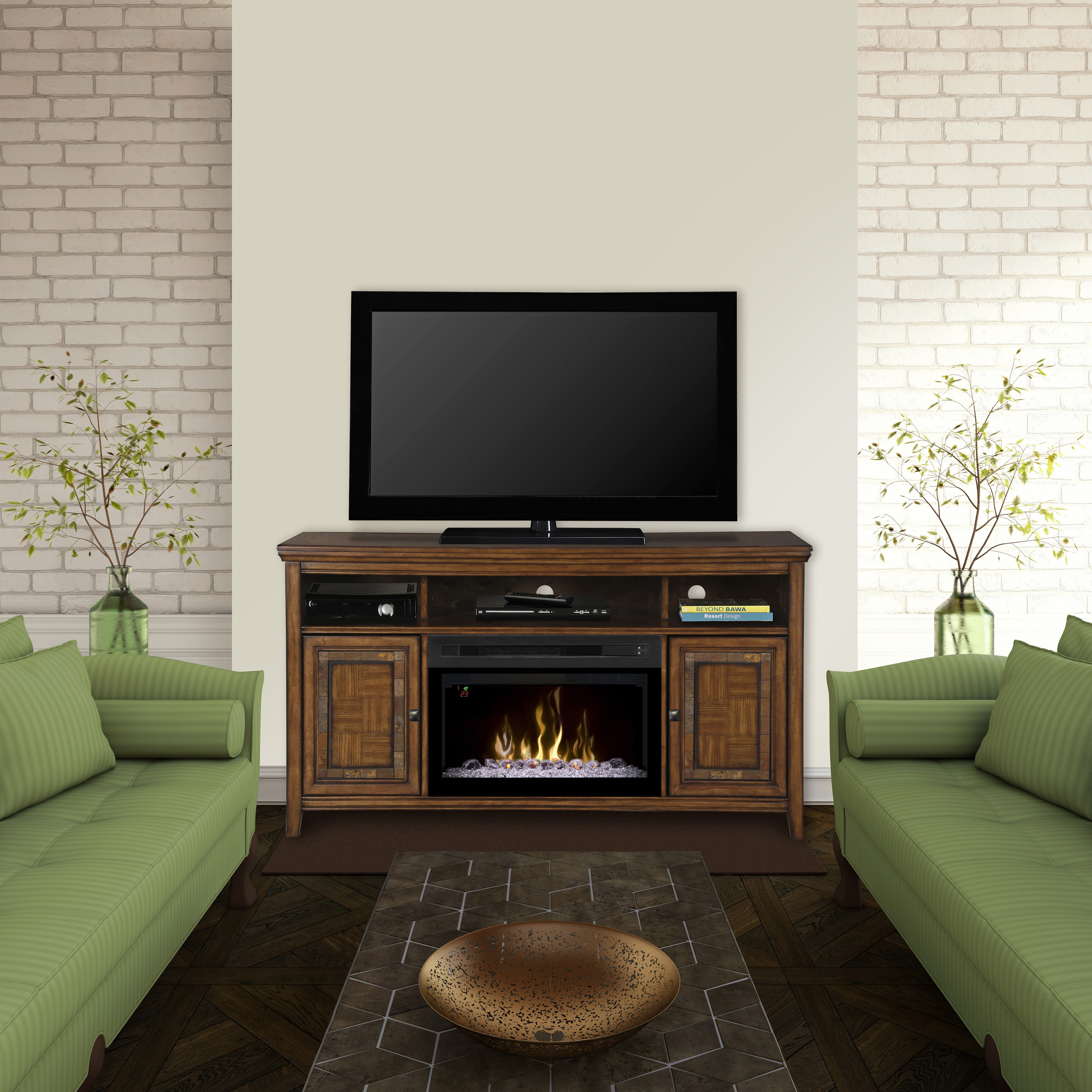 Lynbrook Electric Fireplace Media Console by Dimplex