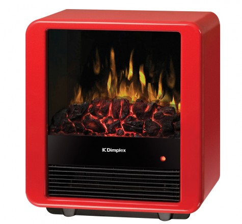 red mini cube electric stove by dimplex