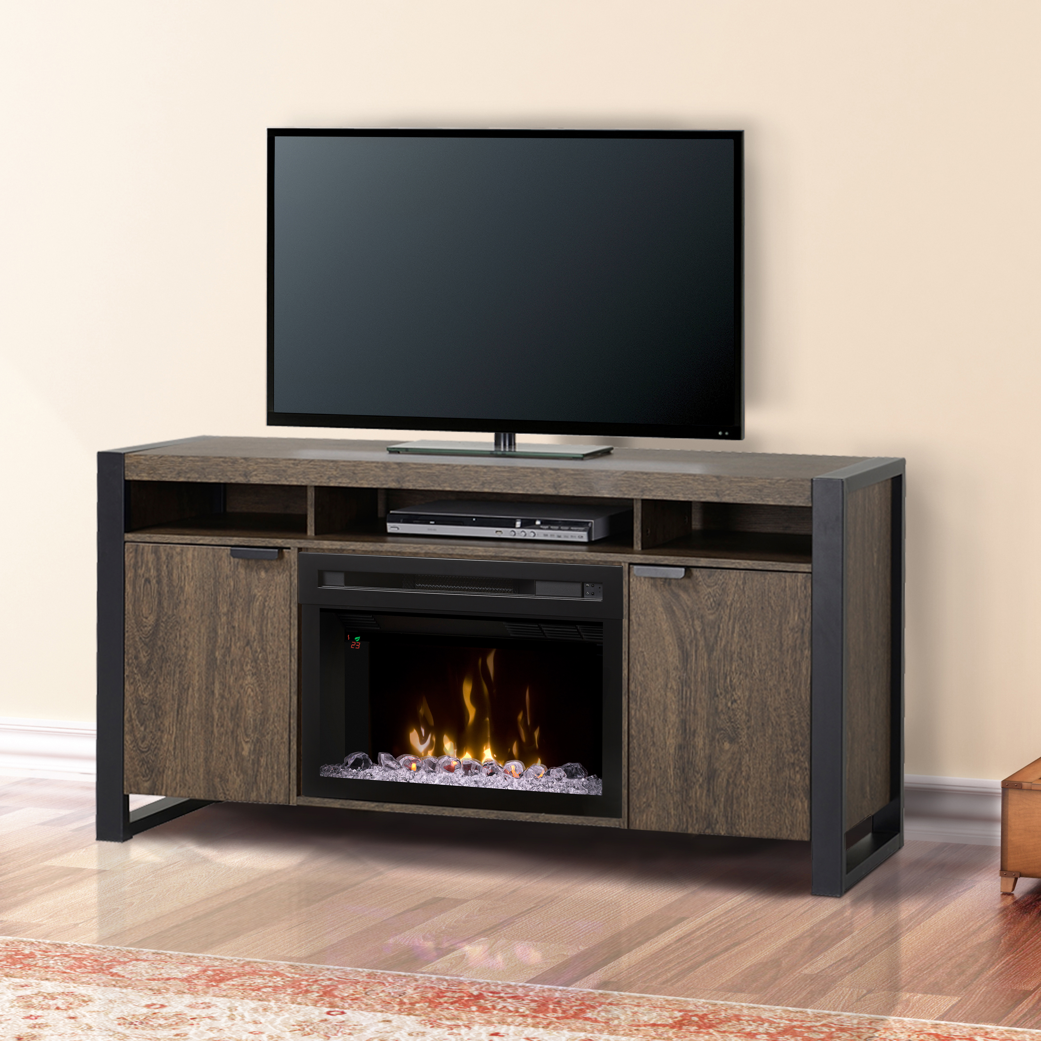 Pierre Electric Fireplace Media Consoles by Dimplex