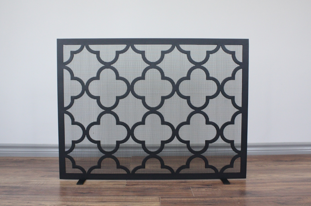 Quaterfoil Fireplace Screen Hearth Manor