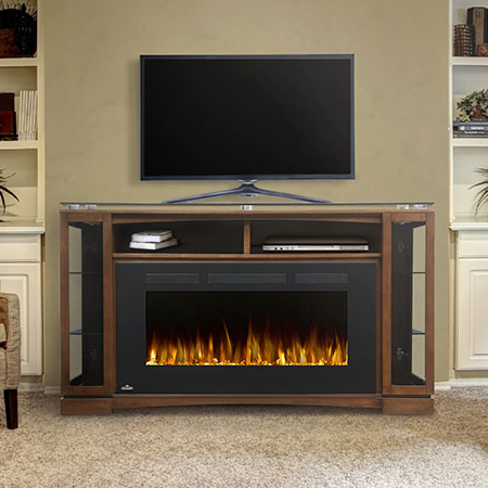 the-shelton-electric fireplace mantle package