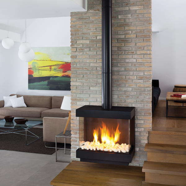 Stand Alone 75 Ortal Gas Fireplace from Hearth Manor Fireplaces
