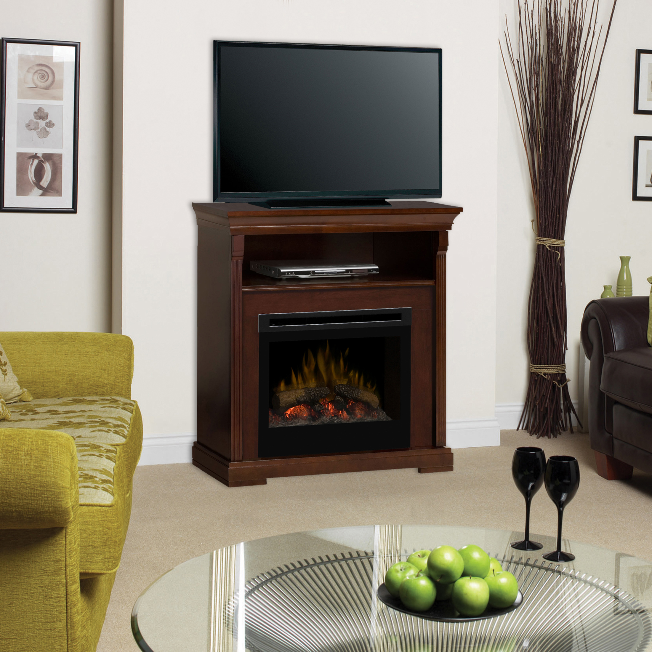 Thornton electric fireplace media console by DIMPLEX