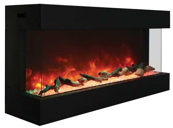 amanti 72 tru view xl electric fireplace three sided