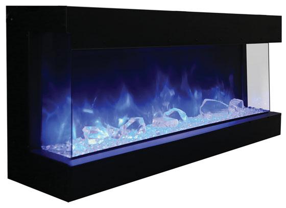 amanti 72 tru view xl electric three sided fireplace