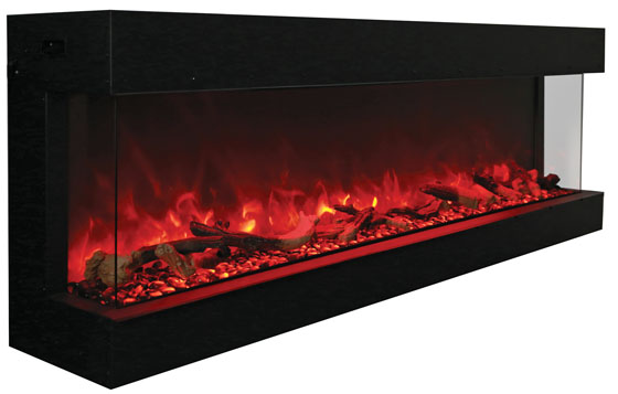 amanti electric fireplaces, 72 tru view xl electric three sided fireplace