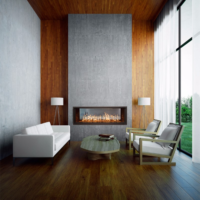 WS54ST gas fireplace in a hardwood room