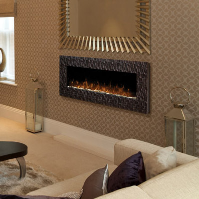 Wakefield Wall Mounted Fireplace by Dimplex in a fancy room
