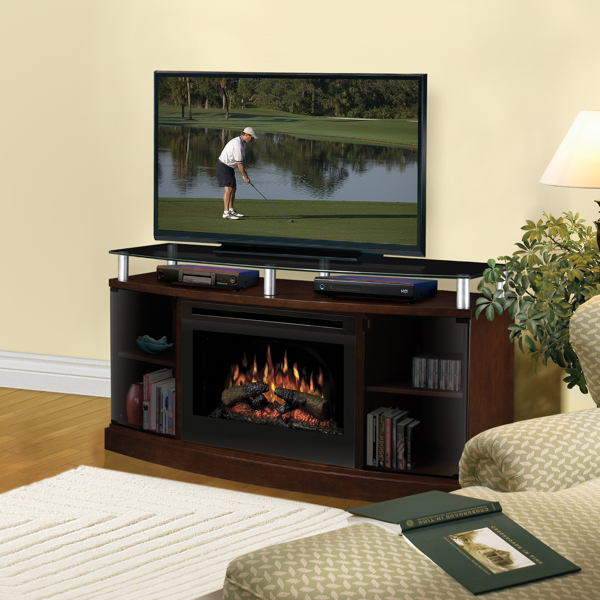 Windham Electric Fireplace Media Console by Dimplex