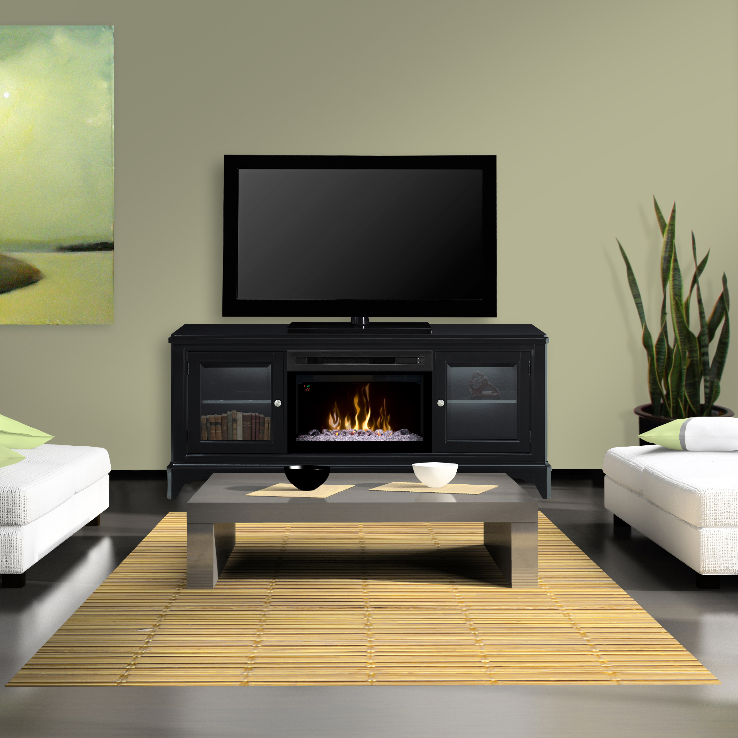 Wintersteing Electric Fireplace Media Console by Dimplex