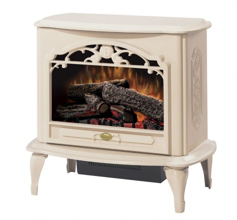 Celeste white electric stove by DIMPLEX fireplaces