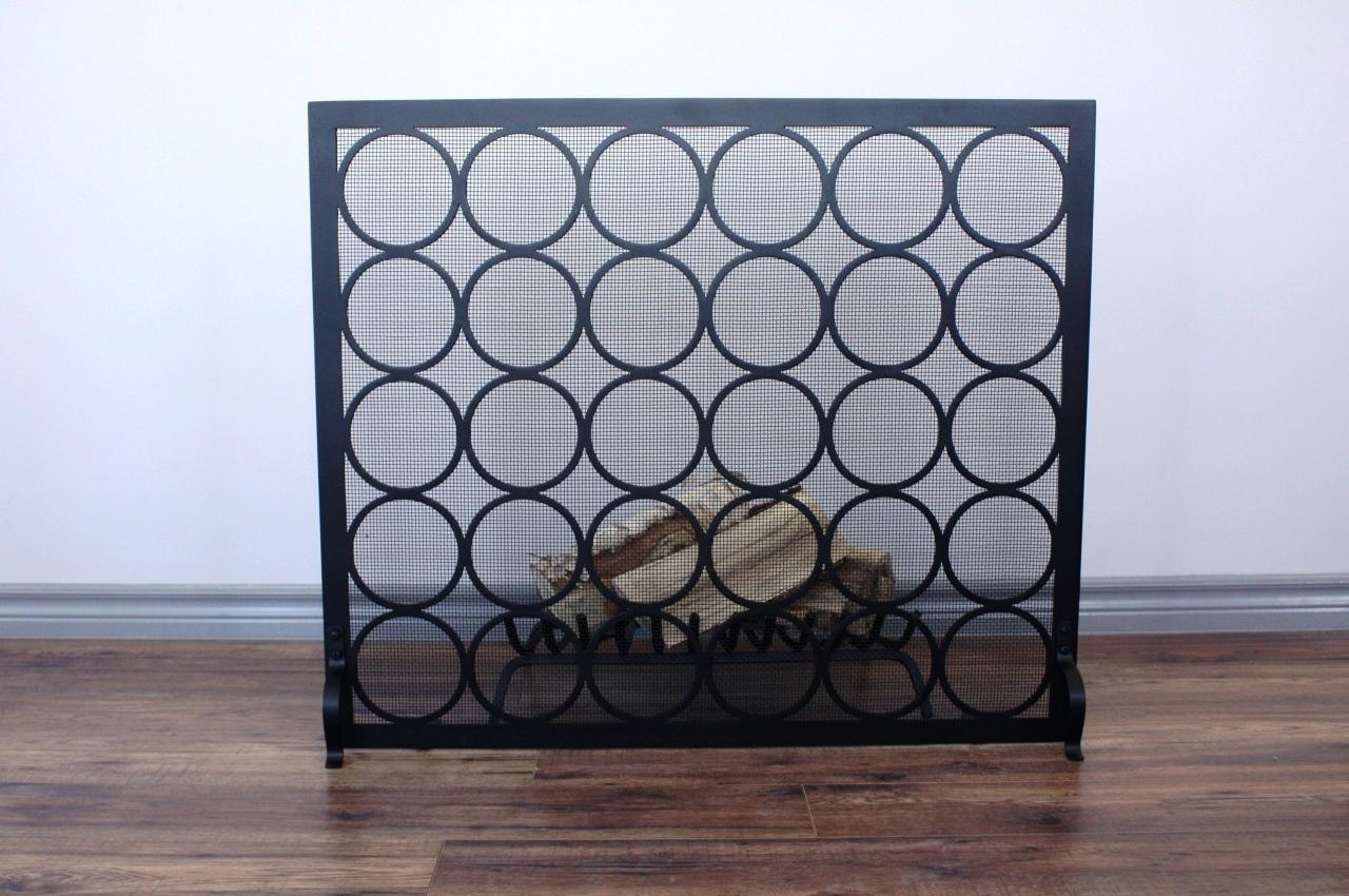 Circles fireplace screen