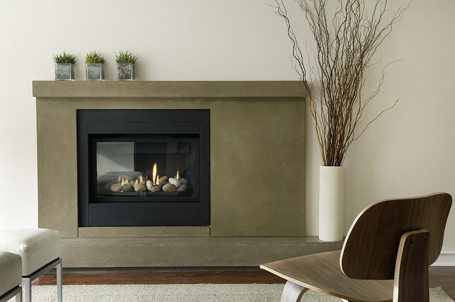 Concrete fireplace mantles hearth manor contemporary for Concrete mantels and hearths