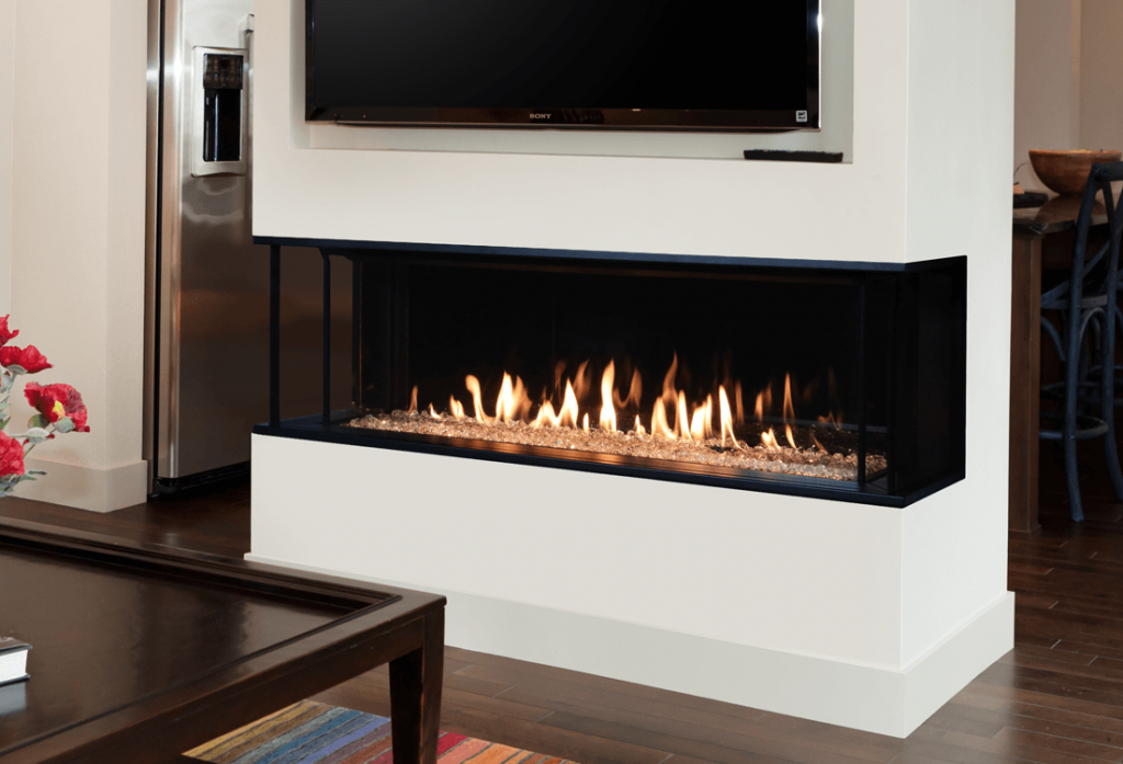 valor lx2 3 sided linear fireplace