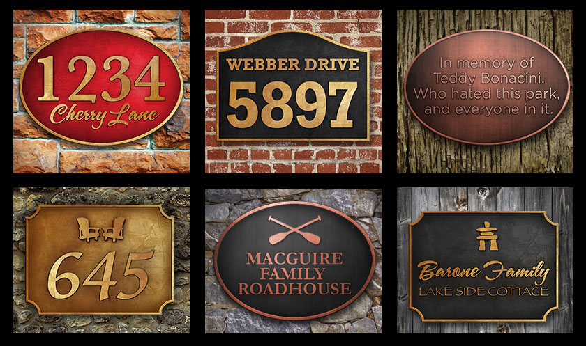 House SIgn Plaques Example