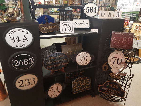 house numbers from hearth manor fireplaces