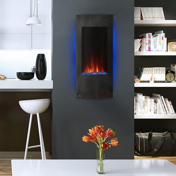napoleon vertical electric fireplace Azure model