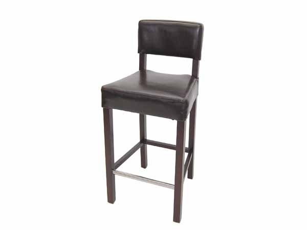 phoenix leather bar stool w/ back by TW studio
