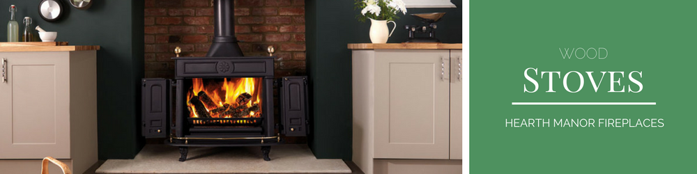 Wood stoves banner thin from Hearth Manor Fireplaces
